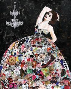"Saatchi Art Artist Haydee Torres; Collage, ""Full Skirt"" #art"