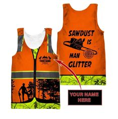 3D Chainsaw Logger Quotes Custom Name Unisex Shirts - Men's tank top / 4XL