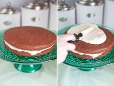 Traditional Irish Chocolate Cake w/ Irish Cream Frosting Recipe (Sugar and Charm Blog)