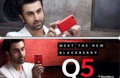Ranbir Kapoor endorses the new #BlackBerry Q5