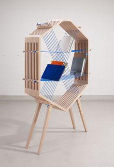 Interesante propuesta de mueblería en madera con materiales alternativos...