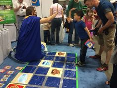 """Robot Turtles code solved with ThinkFun"" at the Science and Engineering Festival"
