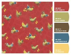 Paint colors from Chip It! by Sherwin-Williams.So French Country. i like the red and yellow Country Paint Colors, French Country Colors, French Country Kitchens, French Country Cottage, Country Farmhouse Decor, Country Décor, French Decor, French Country Decorating, Alphabet