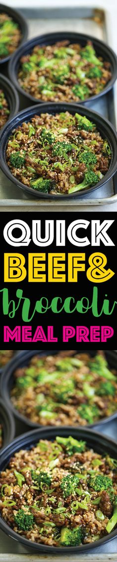 Quick Beef and Broccoli Meal Prep - Damn Delicious Everyone's favorite dish made even easier using ground beef! Comes together in 15 min, prepped for the entire week! Broccoli Beef, Broccoli Recipes, Make Ahead Meals, Quick Meals, Asian Recipes, Healthy Recipes, Top Recipes, Prepped Lunches, Beef Dishes