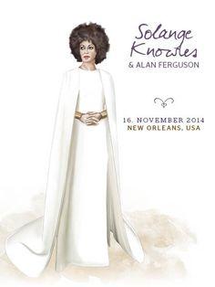Ja, wir haben Solange Knowles' überraschenden Kleidungsstil schon vor ihrer Hochzeit mit Alan Ferguson am 16. November 2014 in unser Herz geschlossen, aber mit ihren Hochzeitsoutfits hat sie alles übertroffen!