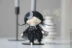 Buy Night Petite doll - night petite doll, small fabric doll, little doll