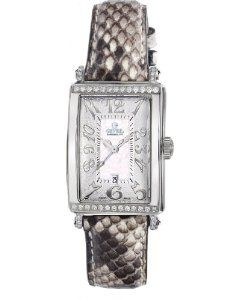 Gevril Women's 7249NT.12 White Mother-of-Pearl Genuine Snake Skin Strap Watch