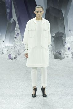 idea: Pants with dress - Chanel A/W 2012