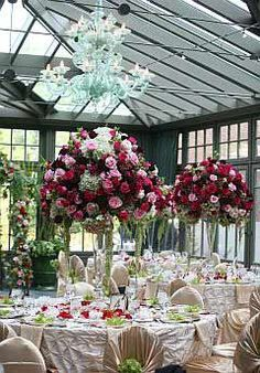 Royal Park Hotel, Rochester, MI Attended a beautiful wedding here in 2009 Large Floral Arrangements, Floral Centerpieces, Royal Park, Hotel Reception, Wedding Styles, Wedding Ideas, A Boutique, Botanical Gardens, Park Hotel