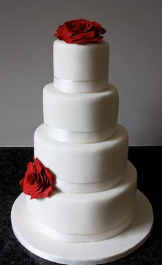 257 best Simple Wedding Cakes images on Pinterest | Decorating cakes ...