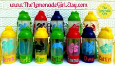 BPA FREE Personalized Beach Themed Sippy Cup by TheLemonadeGirl, $8.00