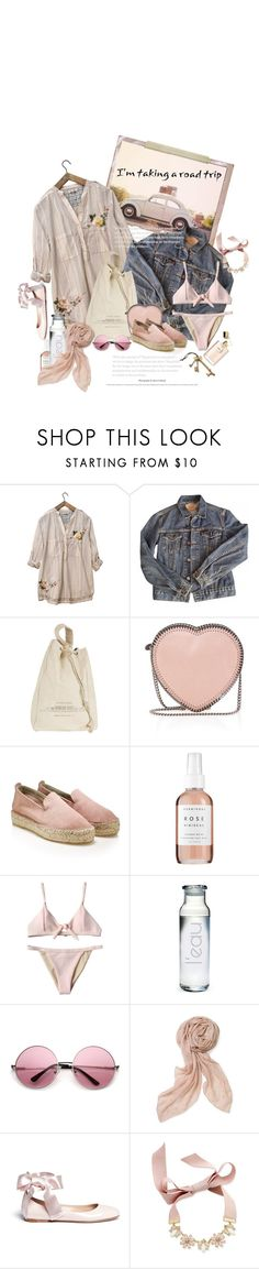 """""""Tout Derrière Moi Pour Un Moment / Everything Behind Me For A While"""" by halfmoonrun ❤ liked on Polyvore featuring Johnny Was, Levi's, Brunello Cucinelli, STELLA McCARTNEY, Herbivore, Susquehanna Glass, Stella & Dot, Gianvito Rossi, INC International Concepts and Crate and Barrel"""