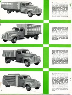 KB-5 is a 1 1/2 ton truck brochure. This is page 2.