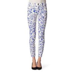 Diane Von Furstenberg floral jeans