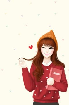 Find images and videos about girl, lovely girl and Enakei on We Heart It - the app to get lost in what you love. Cute Kawaii Girl, Cute Cartoon Girl, Korean Illustration, Illustration Girl, Chica Cool, Girly M, Lovely Girl Image, Cute Girl Drawing, Cute Girl Wallpaper