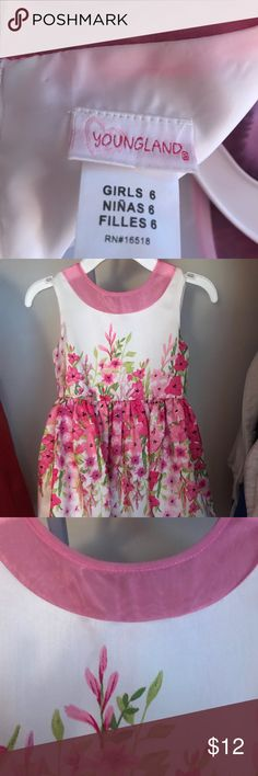 12d28894ab48f3 Girls pink and white dress Pink and white with petticoat. Worn only once.  Like