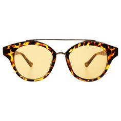 Women's Sylvia Alexander Browbar Aviator Style Sunglasses - Tortoise (Green)