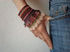 Syringa Pinetorum  Freeform Crochet Cuff  by irregularexpressions, on etsy