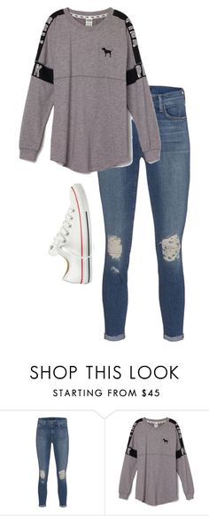 """""""pink"""" by alexjaidej ❤ liked on Polyvore featuring J Brand, Victoria's Secret PINK and Converse"""