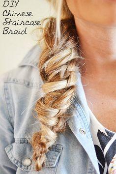 Braid Tutorial: Chinese Staircase #hairtutorial #braidtutorial #Diyhair #hairstyle #myshineproject - bellashoot.com