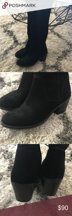 Sole Society Black Suede Boots Small scuff and normal wear but overall great condition! Make me an offer! ❤️ Sole Society Shoes Over the Knee Boots