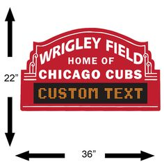 Chicago Cubs Custom Marquee Vinyl Wall Decal Room Decor - Custom vinyl decals chicago
