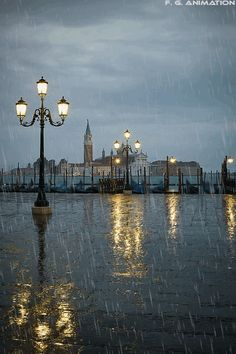 Rainy day in Venice, Italy