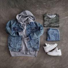 WEBSTA @ dxi___ - #Zara Denim Jacket#HM Hoodie