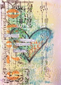 ART JOURNAL PAGE | UNSUPERVISED | Nika In Wonderland Art Journaling and Mixed…