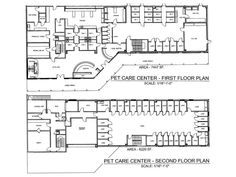 Your trusted news source for your veterinary and practice needs Hospital Floor Plan, Hospital Plans, New Hospital, Pet Kennels, Dog Hotel, Hospital Design, Clinic Design, Site Plans, Dog Boarding