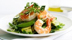 Snow pea, prawn & avocado salad