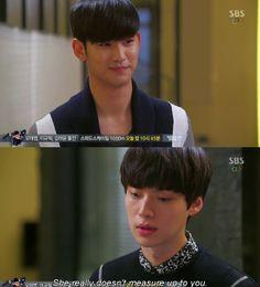"""Luego de conversar sobre astronomía, al despedirse Chun Yoon Jae, le dice a Do Min Joon: """"Siento como si hubiera encontrado a mi alma gemela. Me siento muy bien""""- Min Joon se sonríe- """"Mi hermana tiene muchos defectos. La verdad es que no esta a tu altura, pero sé bueno con ella. Me gustaría decirle algo que tengo en mente, ¿puedo venir a visitarlo de nuevo?"""" - My Love From Another Star, Episodio 16"""