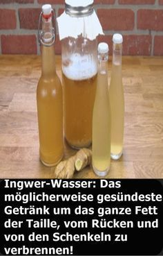 Ginger Water: Perhaps the healthiest drink around all the fat of the day . - Ingwer-Wasser: Das möglicherweise gesündeste Getränk um das ganze Fett der Ta… Ginger Water: The possibly healthiest drink to burn all the fat of the waist, back and thighs! Lemon Benefits, Coconut Health Benefits, Avocado Dessert, Healthy Oils, Healthy Drinks, Nutrition Drinks, Detox Drinks, Healthy Food, Healthy Recipes