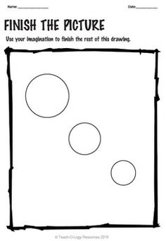 NO PREP FINISH THE PICTURE/ FINISH THE DRAWING... by TEACH-O-LOGY RESOURCES | Teachers Pay Teachers