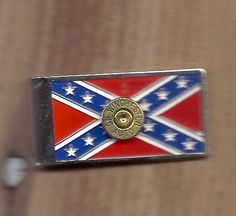 Confederate flag money clip.          Ann's Classy Glass       If you're looking for something special for Christmas I have just the thing. Jewelry and items made from Gun Shells. Earrings, necklaces, money clips, cuff links. etc. email me at anniegetugun@gmail.com or go to etsy and type in annie get u gun.