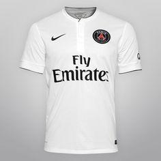 Camisa Nike Paris Saint-Germain Away 14/15 s/nº - Branco+Azul