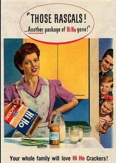 Vintage Hi Ho Crackers Ad