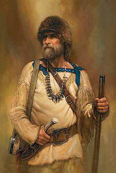 Western Art; A Noble Time-Mountain Man Print by Russ Docken : Wild Wings