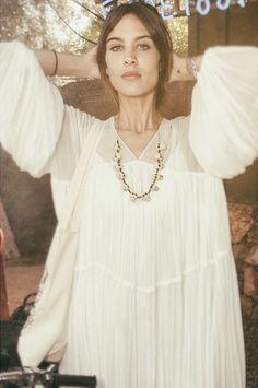 Alexa white dress Coachella