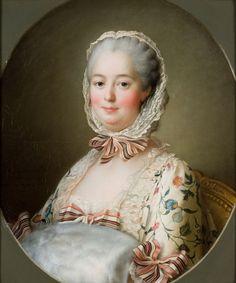 François-Hubert Drouais, Paris, 1727-1775. Portrait de Jeanne-Antoinette Poisson (1721-1764), marquise de Pompadour, 1763. Le portrait de la favorite du roi Louis XV est une étude préparatoire pour le portrait en pied aujourd'hui conservé à la National Gallery de Londres. La marquise au faîte de sa puissance est alors âgée de 42 ans. Huile sur toile. Don de M. Laborde en 1825.