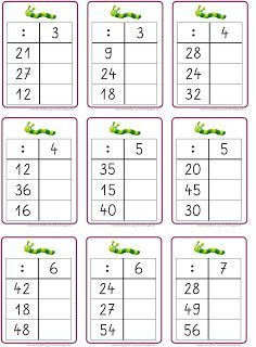 die Geteiltaufgaben üben if I were to work on my Flex and Floarbeitsplan, then I would have to repeat the multiplication and division now . Math Division Worksheets, Kids Math Worksheets, Learning Activities, Kids Learning, Multiplication, Math School, Math Notebooks, Elementary Science, Math For Kids