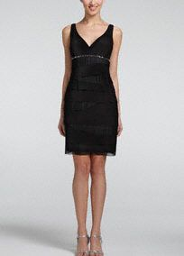A timeless silhouette with a touch of modern flare, you will love the way you look in this 3/4 jacket dress! Sleeveless bodice features beaded empire waist creating a stunning figure. Tiered skirt with sheer overlay adds dimension and a chic touch. 3/4 sleeve jacket adds the perfect amount of coverage. Fully lined. Imported polyester. Spot clean.A bodice with a high waistline directly below the bust. A great look for most body types.A fabric design element that features multiple layers.