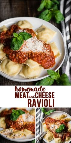 Dinner Recipes pasta Meat and Cheese Ravioli is a delicious dinner recipe, especially when you make t. Meat and Cheese Ravioli is a delicious dinner recipe, especially when you make the flavorful filling and homemade pasta dough from scratch! Meat And Cheese Ravioli Recipe, Homemade Ravioli Filling, Homemade Pasta Dough, Homemade Ravioli Recipes, Ravioli Pasta Recipe, Cheese Ravioli Filling, How To Make Ravioli, Delicious Dinner Recipes, Al Dente
