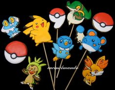 Pokemon cookies - It would be cool to make one that looked like two Pokeballs on top of each other to make an 8