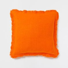 Linen Pillow with Fringes - Decorative Pillows - Bedroom | Zara Home United States