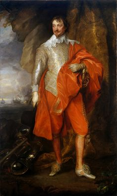 "ROBERT RICH, 2ND EARL OF WARWICK. 1633 c.- oil on canvas. 213,4 × 128 cm. Signed "" Warwick Uncle to Lady Mary Countess Breadalbane "". Provenance : 1949, The Jules Bache Collection."