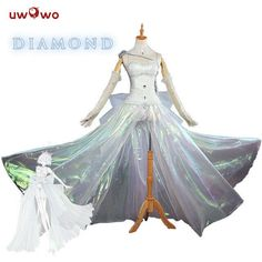 d56f4bd22320 UWOWO Diamond Houseki no Kuni Cosplay Land of the Lustrous Costume  Dress Houseki Kuni