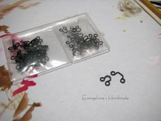 sewing findings into drawer pulls for doll house =)