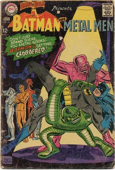 "slsblog: ""Don't just stand there! "" The Brave and the Bold #74. October-November 1967. DC Cover Pencils: Ross Andru Inks: Mike Esposito Rampant Run the Robots Batman; Metal Men Script: Bob Haney Pencils: Ross Andru Inks: Mike Esposito Letters: Stan..."