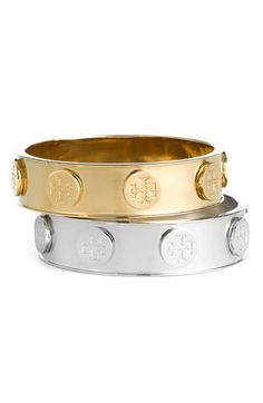 d23420ea37c7 Tory Burch Logo Stud Bangle